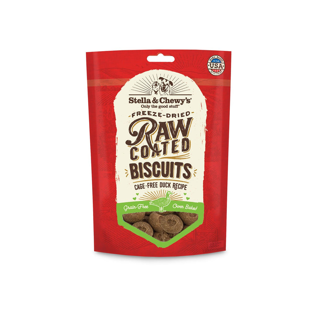 Stella & Chewy's Raw Coated Biscuits Duck Cage Free 9oz