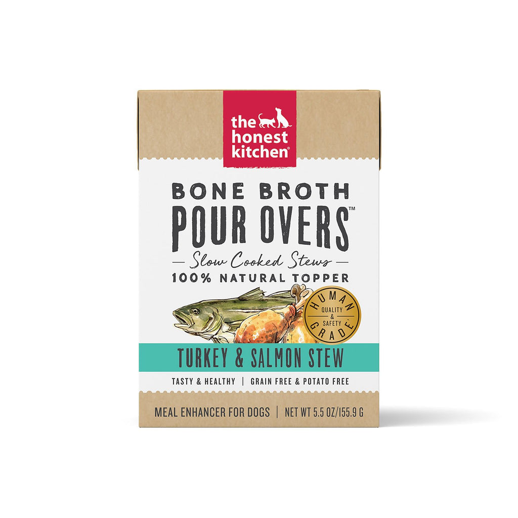 Honest Kitchen Bone Broth Pour Over Turkey & Salmon 5.5oz
