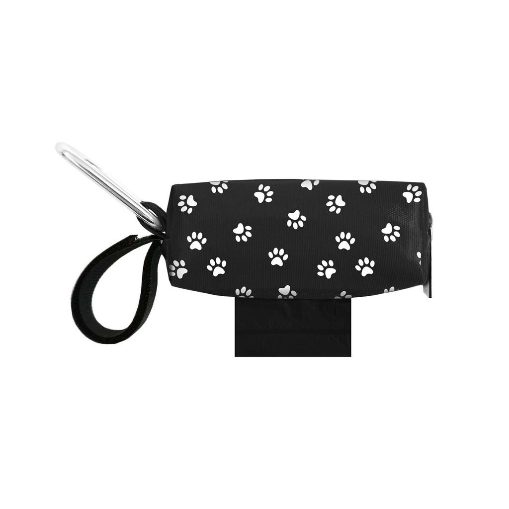 Doggie Walk Duffel Black And White Paws