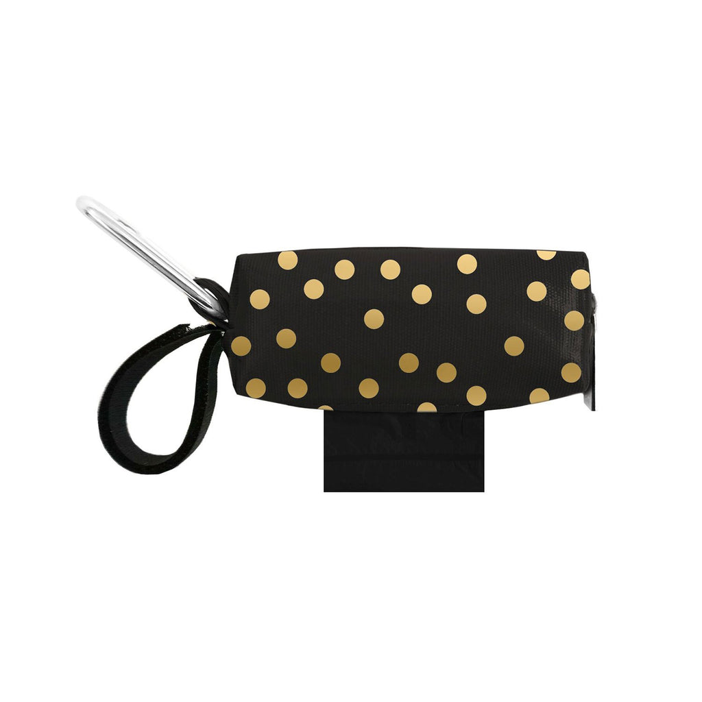 Doggie Walk Duffel Black With Gold Dots