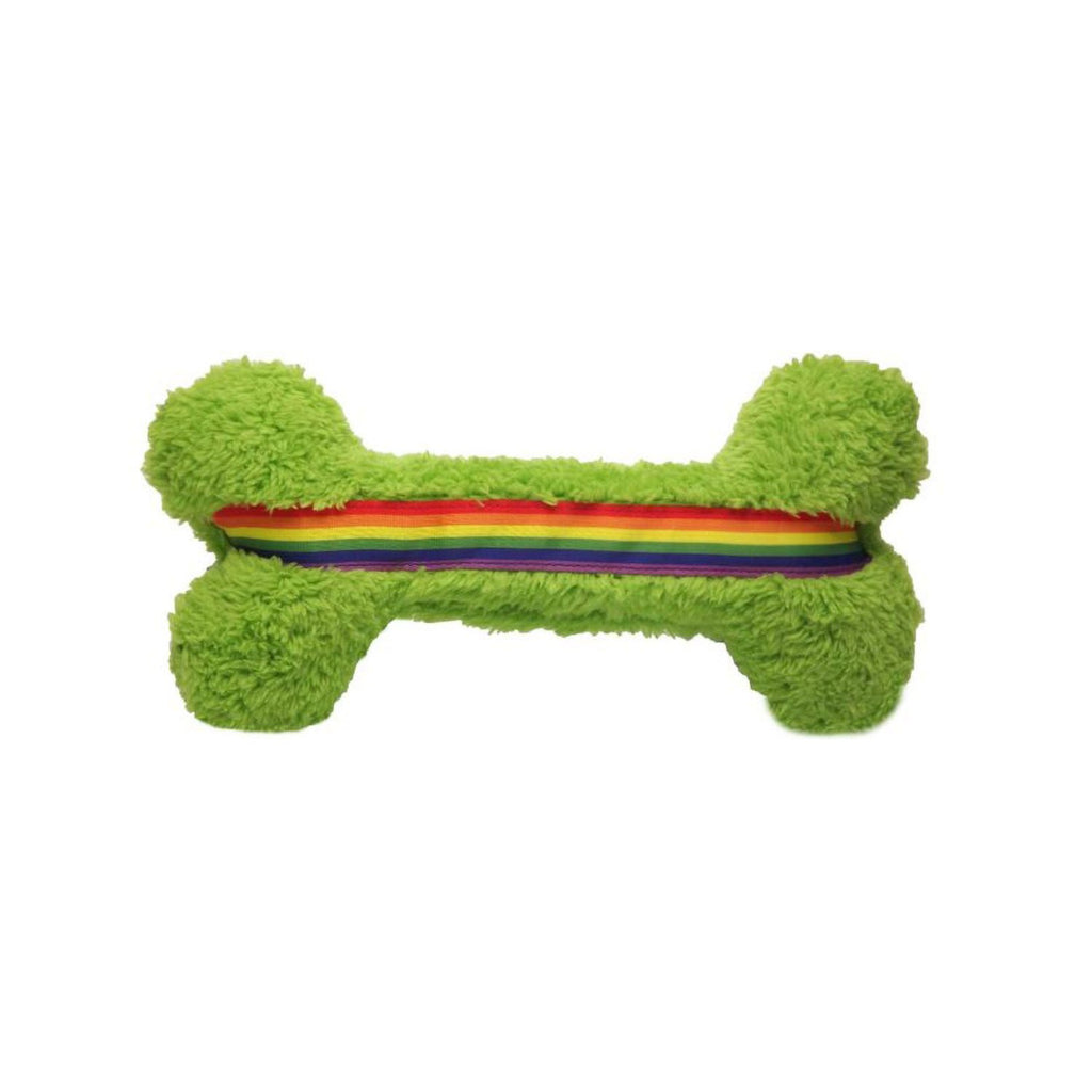 Cycle Dog Duraplush Bone Rainbow LG
