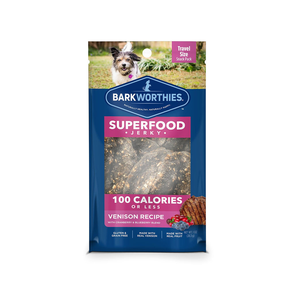 Barkworthies Venison Snack Pack Jerky Treat 1oz