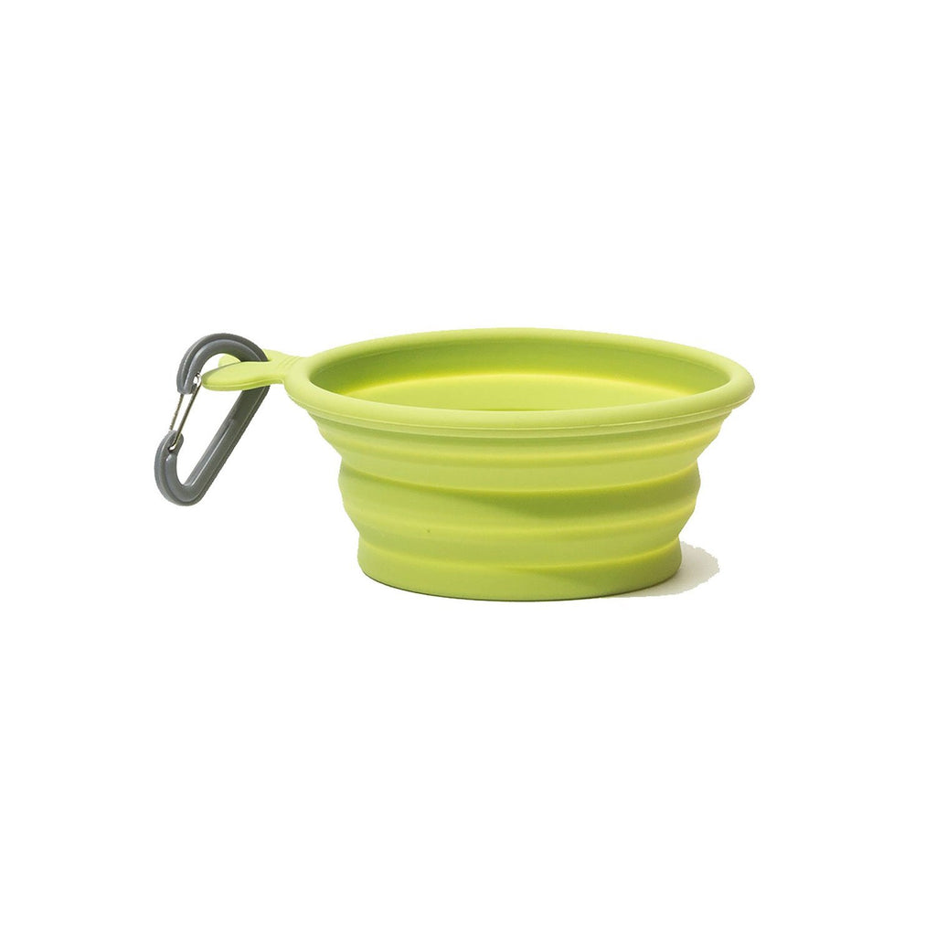 Messy Mutts Silicone Collapsible Bowl Green MD