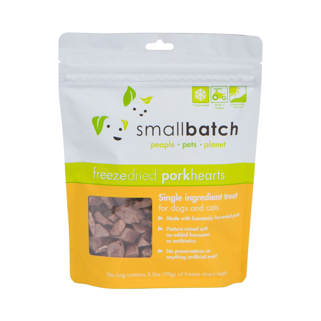 SmallBatch Freeze Dried Pork Hearts 3.5oz