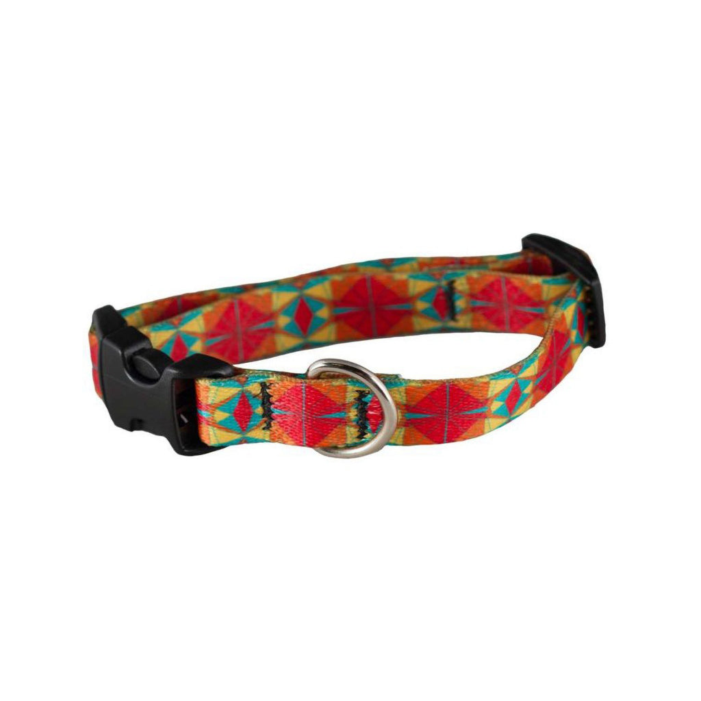 Cycle Dog Skinny Ecoweave Red Orange Kaleidoscope Collar SM