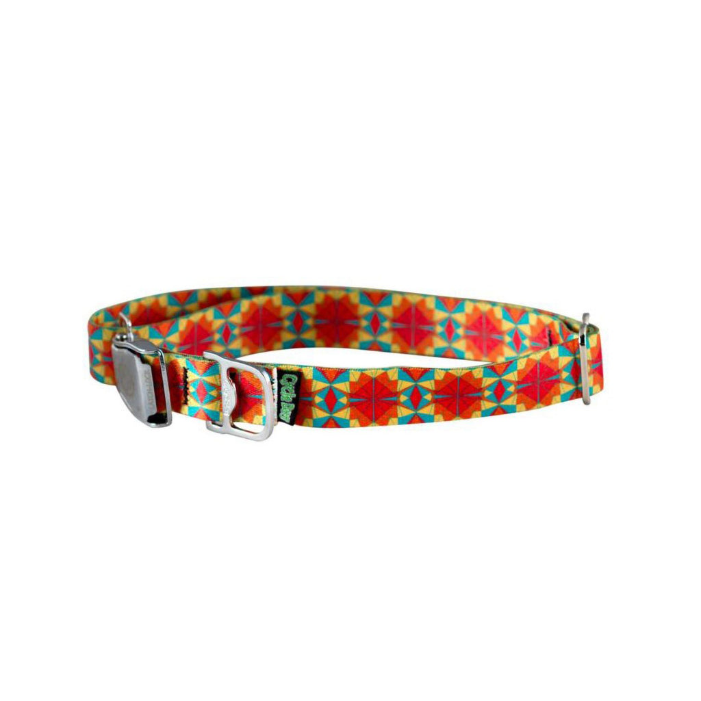 Cycle Dog Ecoweave Red Orange Kaleidoscope Collar