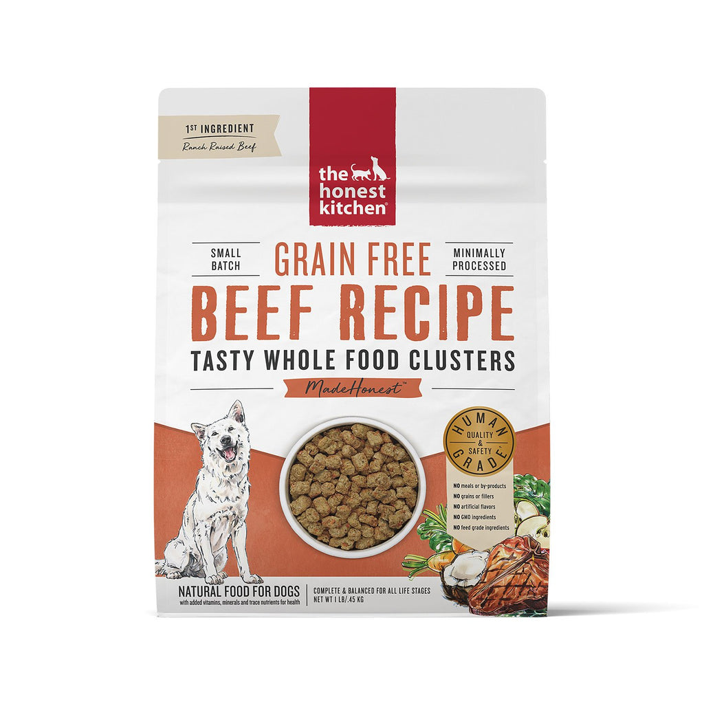 Honest Kitchen Whole Food Clusters Beef 1lb Case