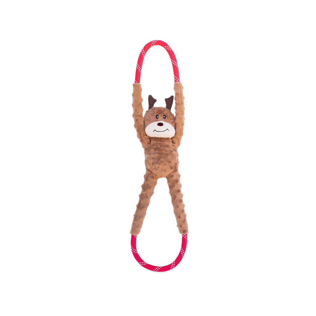 ZippyPaws Holiday RopeTugz Reindeer