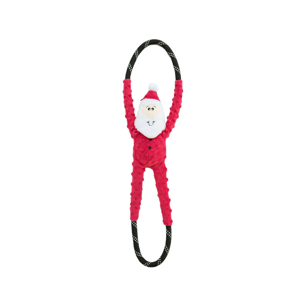 ZippyPaws Holiday RopeTugz Santa