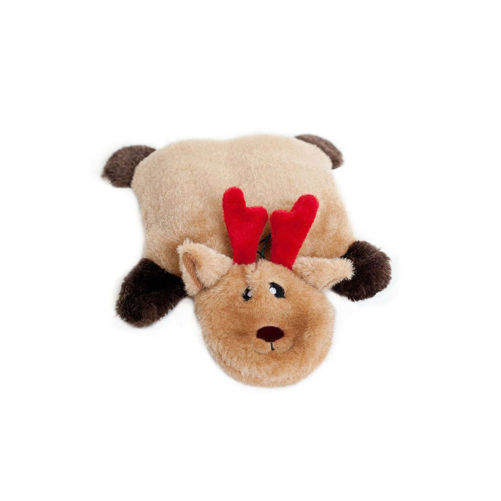 ZippyPaws Holiday Squeakie Pad Reindeer