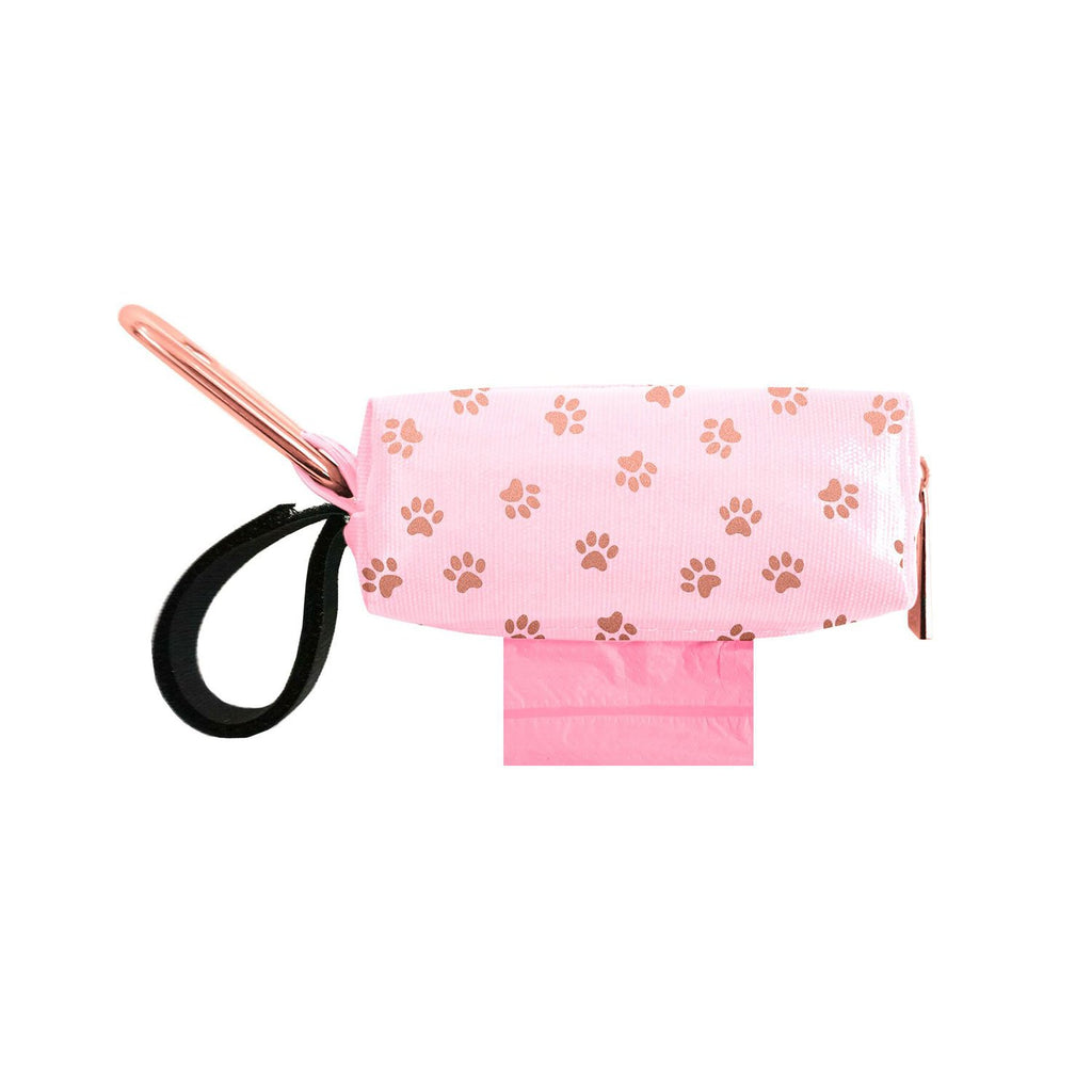 Doggie Walk Duffel Pink With Gold Paws