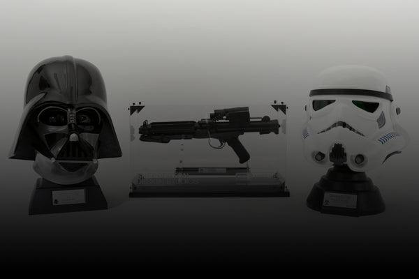 Star Wars blasters at the Royal Armouries