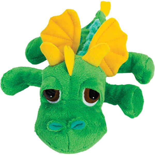 Small dragon green plush toy