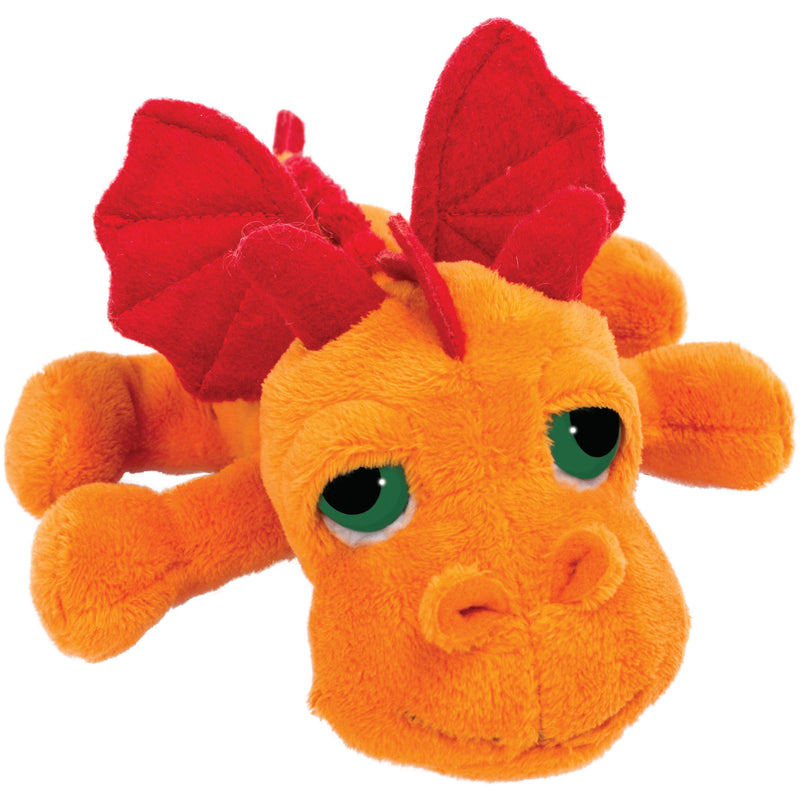 Small dragon orange plush toy