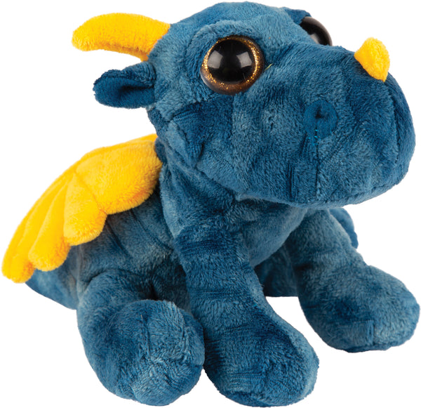 Small blue thunder dragon plush toy