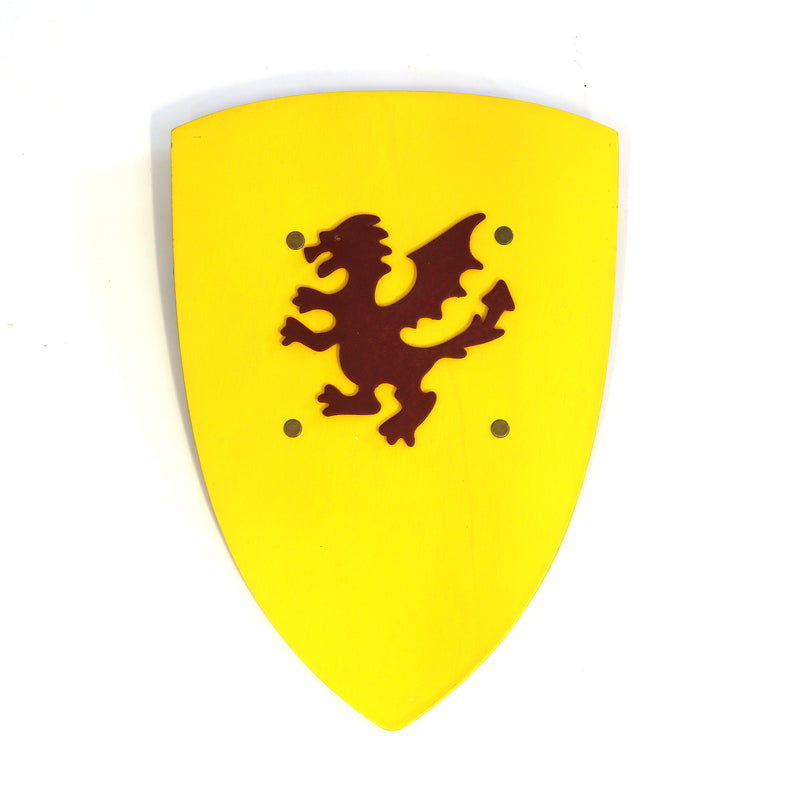 Children's medieval shield — yellow
