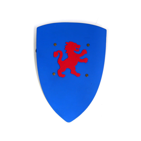 Children's medieval shield — blue