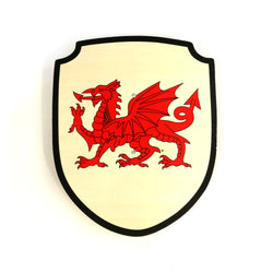 Children's Welsh Dragon wooden shield