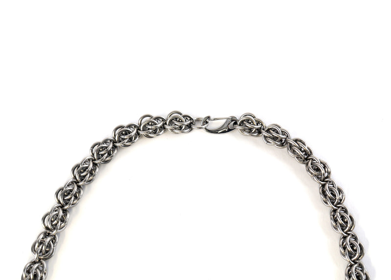 Men's chain mail necklace