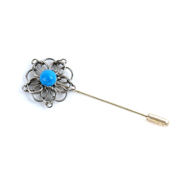 Celtic brooch — light blue