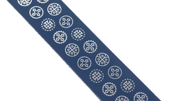 I.33 navy blue bookmark