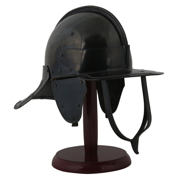 English Civil War cavalry helmet replica — Royal Armouries collection