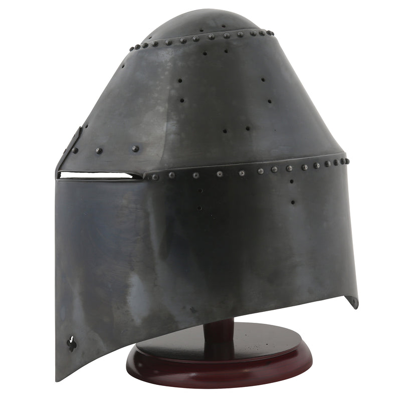 Medieval English great helm — Royal Armouries collection