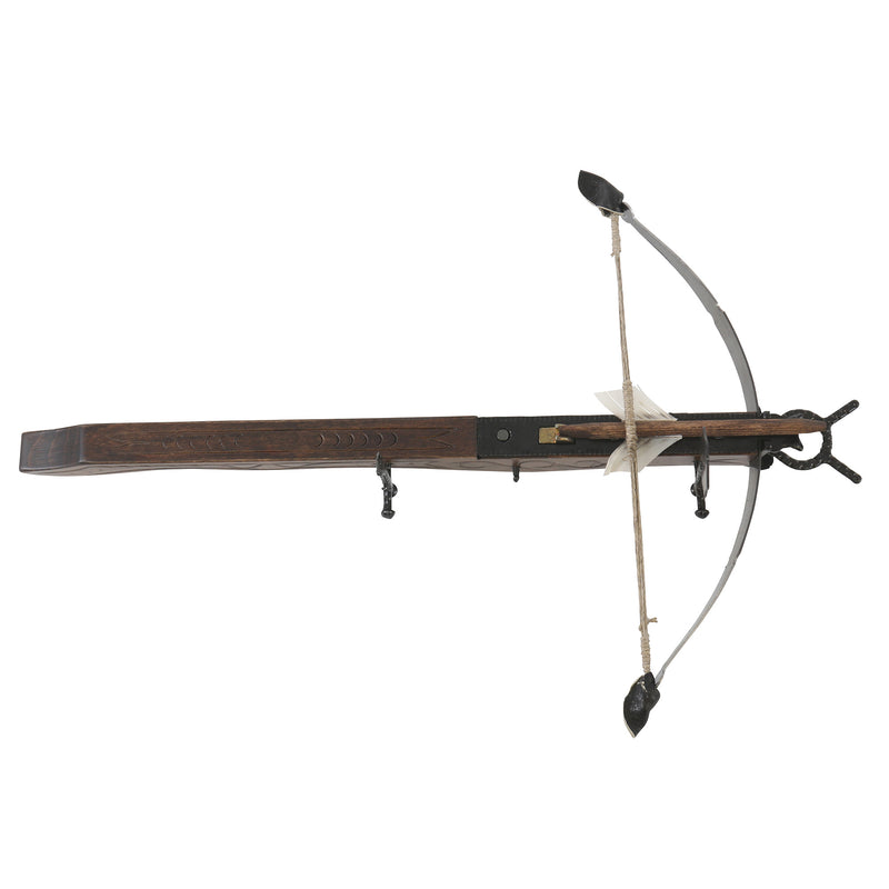 Wooden mini European crossbow with bolt