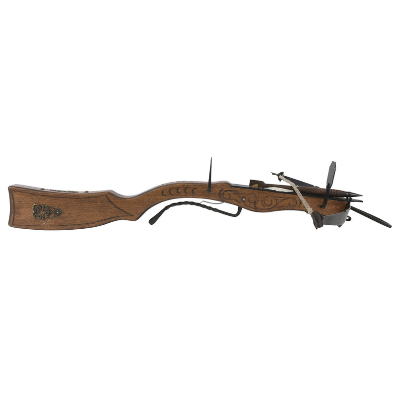 Wooden heavy gun-shaped crossbow and bolt
