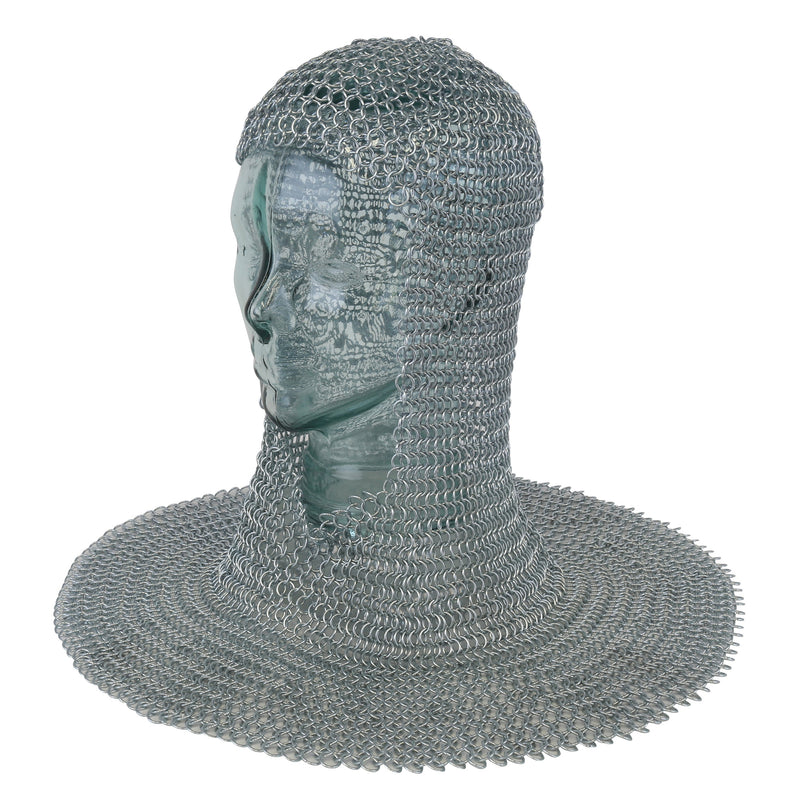 Square face mail armour coif