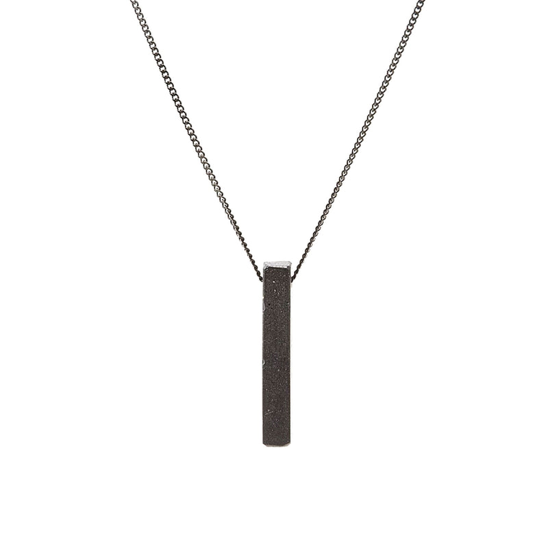 Concrete Bar Pendant Fortress Necklace