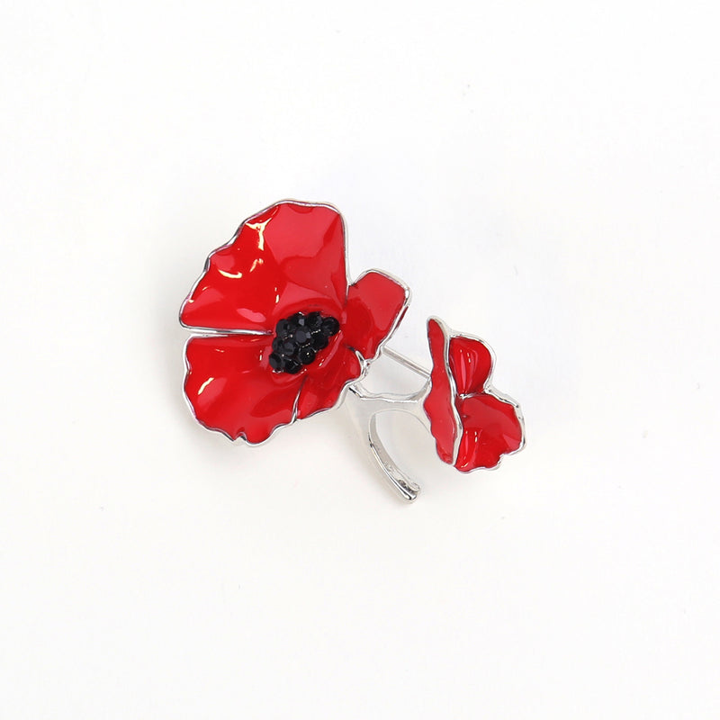 Two poppies brooch