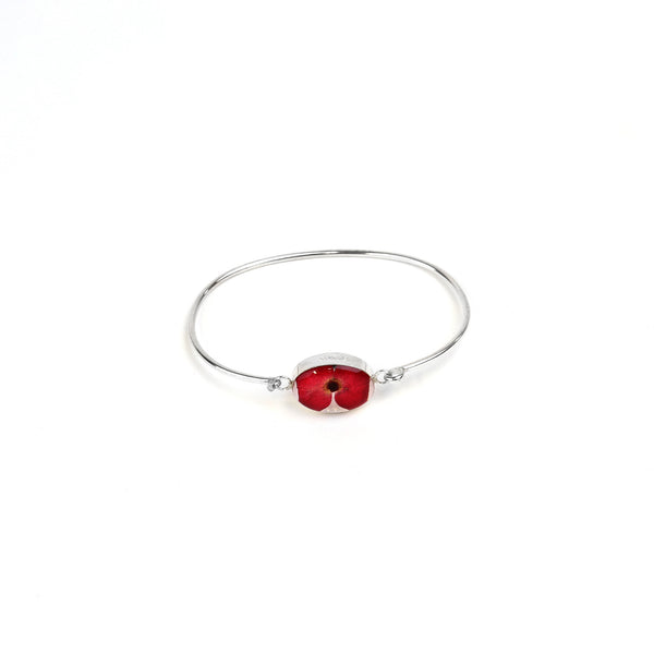 Oval poppy bangle