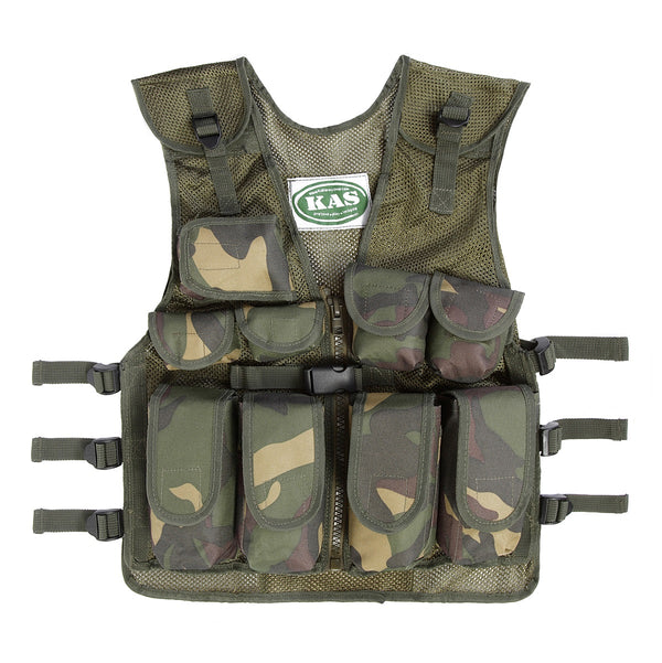 Children's camo assault vest in woodland DPM