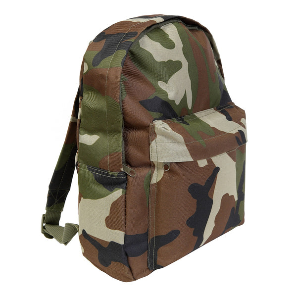Children's camo rucksack in woodland DPM