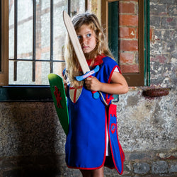 Children's medieval tabard — blue and red