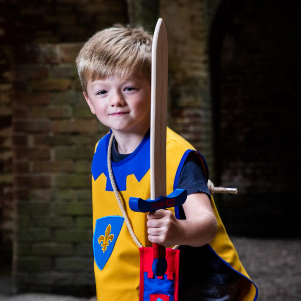 Children's medieval tabard — yellow and blue