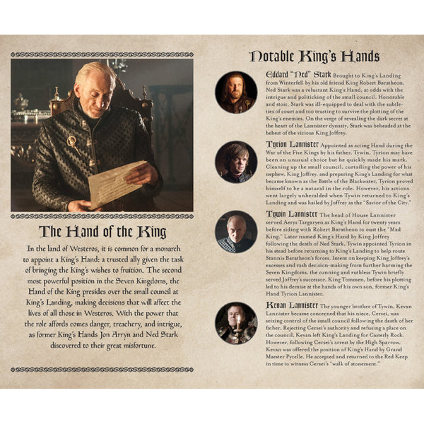 Hand of the King notebook — Game of Thrones