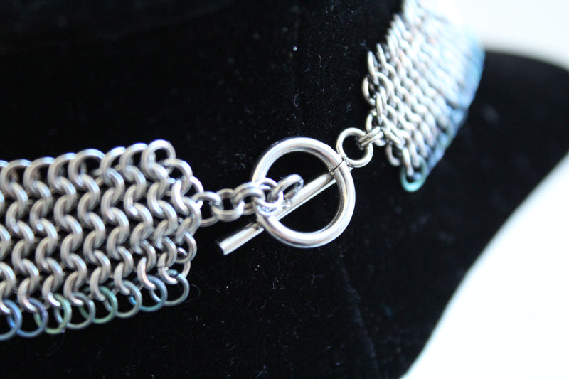Bishop's mantle chain mail collar necklace