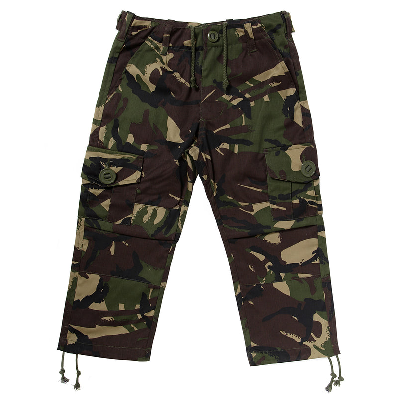 Children's camo trousers in woodland DPM Age 5-6