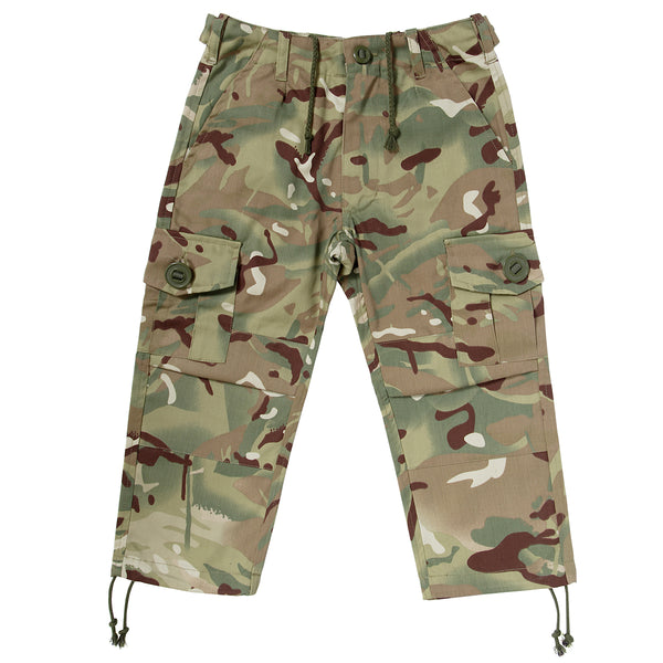 Children's camo trousers in multi terrain DPM