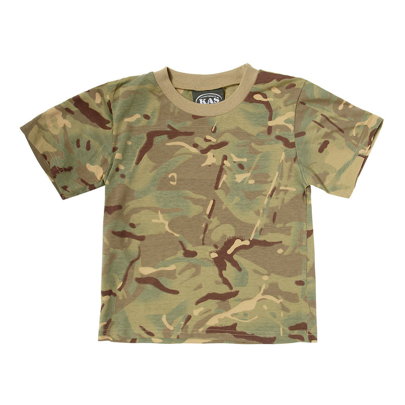 Children's camo T-shirt in multi terrain DPM