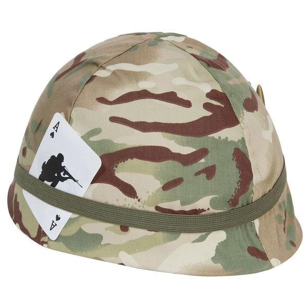 Children's camo helmet in multi terrain DPM