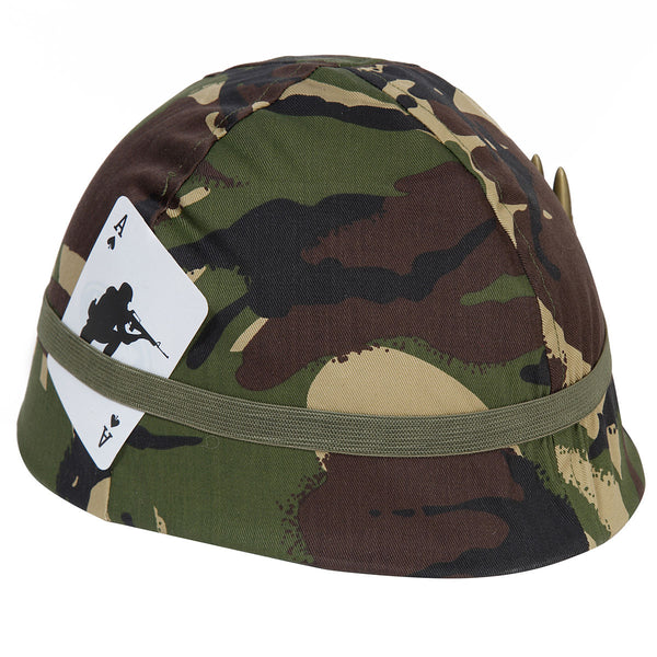 Children's camo helmet in woodland DPM