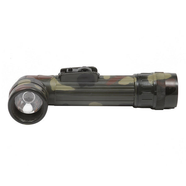 Light the way with this 17cm children's camouflage torch complete with four changeable coloured lenses and a spare bulb hidden in the, screw-capped, base compartment. For easy storage and those tasks that require both hands, this torch is fitted with an easy-clip metal belt clip.  This torch even includes an easy to use Morse code button for communicating those vital messages between your fellow adventurers.  Torch takes 2x C Cell batteries (not included).