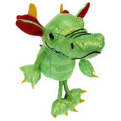 Green dragon finger puppet