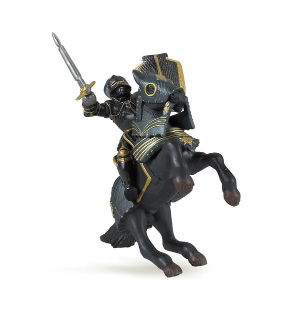 Papo figurines: black armoured horse