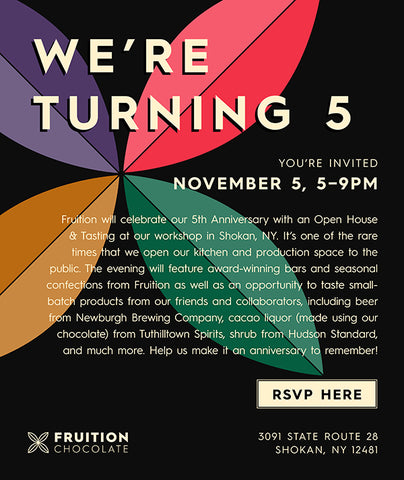 Fruition Celebrates 5 Years in Business Invitation with Logo