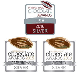 award winning chocolate badge for international chocolate awards