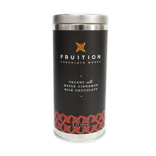 Pecans with Maple Cinnamon Milk Chocolate - Fruition Chocolate